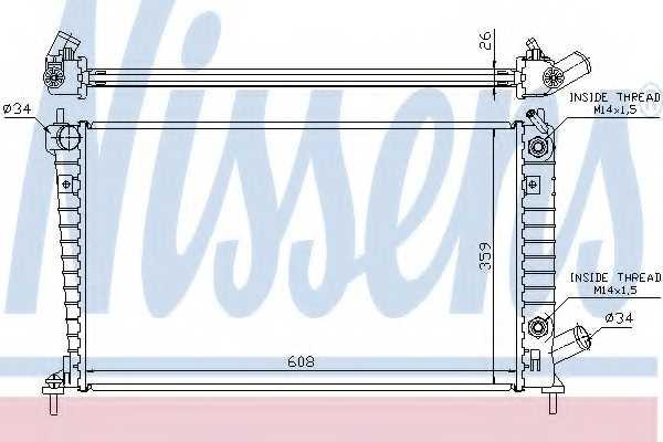 Радиатор охлаждения двигателя NISSENS 68005A - изображение
