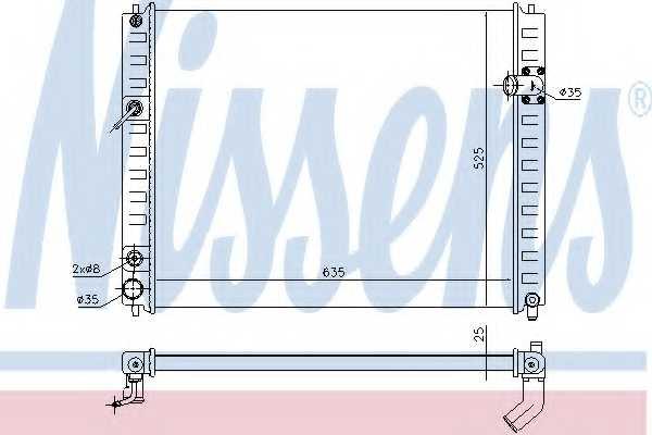 Радиатор охлаждения двигателя NISSENS 68091 - изображение