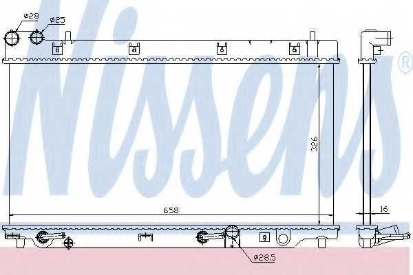 Радиатор охлаждения двигателя NISSENS 68098 - изображение