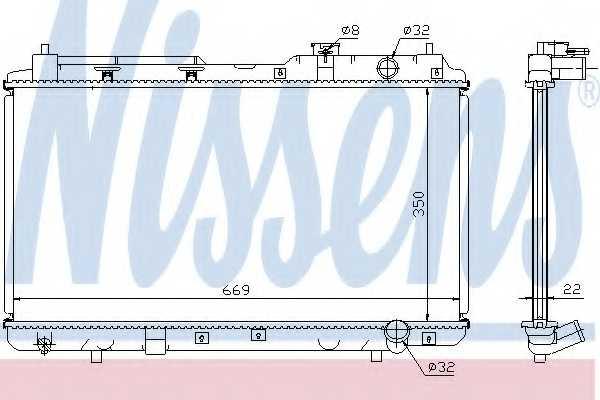 Радиатор охлаждения двигателя NISSENS 68101A - изображение