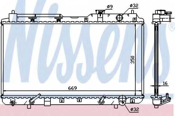 Радиатор охлаждения двигателя NISSENS 681021 - изображение