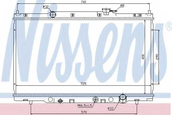 Радиатор охлаждения двигателя NISSENS 68103 - изображение