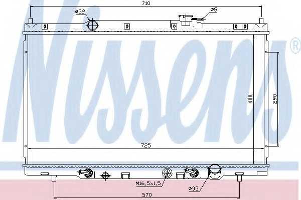 Радиатор охлаждения двигателя NISSENS 68106 - изображение