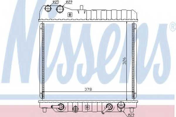 Радиатор охлаждения двигателя NISSENS 68111 - изображение