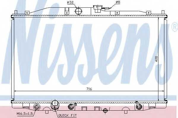 Радиатор охлаждения двигателя NISSENS 68112 - изображение