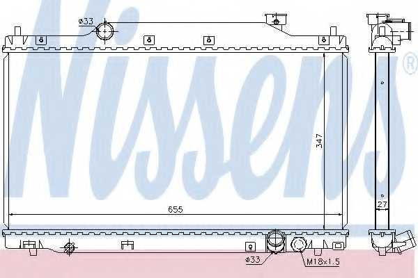 Радиатор охлаждения двигателя NISSENS 68114 - изображение