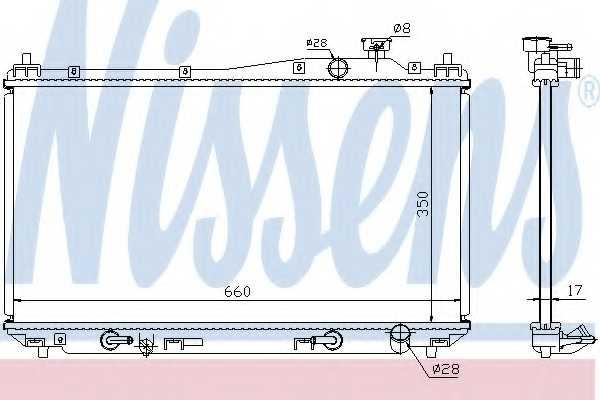 Радиатор охлаждения двигателя NISSENS 68115 - изображение