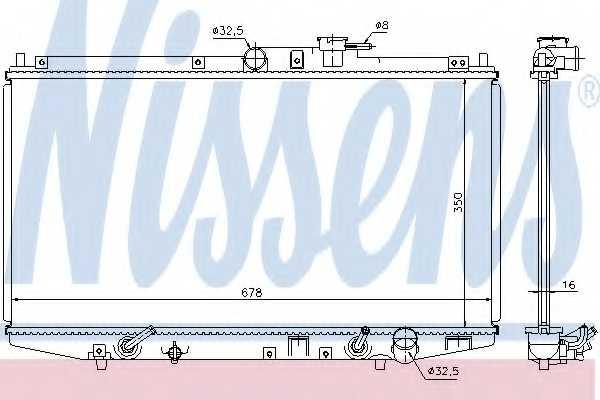 Радиатор охлаждения двигателя NISSENS 68117 - изображение