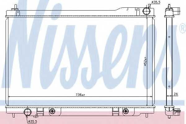 Радиатор охлаждения двигателя NISSENS 68118 - изображение