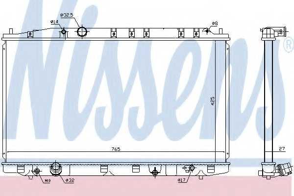 Радиатор охлаждения двигателя NISSENS 68137 - изображение