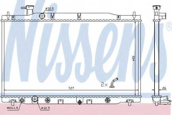 Радиатор охлаждения двигателя NISSENS 681372 - изображение