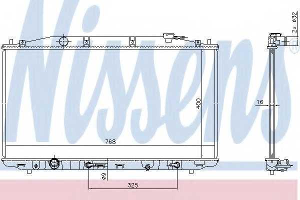 Радиатор охлаждения двигателя NISSENS 68138 - изображение
