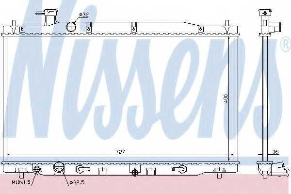 Радиатор охлаждения двигателя NISSENS 68139 - изображение