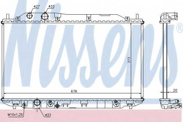 Радиатор охлаждения двигателя NISSENS 68141 - изображение