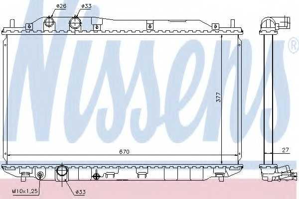 Радиатор охлаждения двигателя NISSENS 68143 - изображение