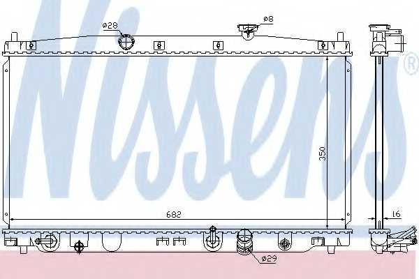 Радиатор охлаждения двигателя NISSENS 68149 - изображение