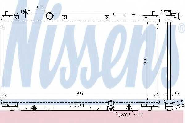 Радиатор охлаждения двигателя NISSENS 68150 - изображение