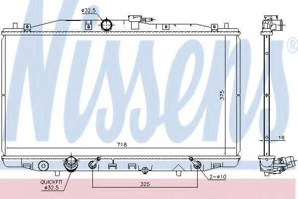 Радиатор охлаждения двигателя NISSENS 68152 - изображение