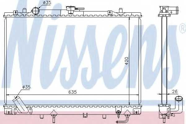 Радиатор охлаждения двигателя NISSENS 68154 - изображение
