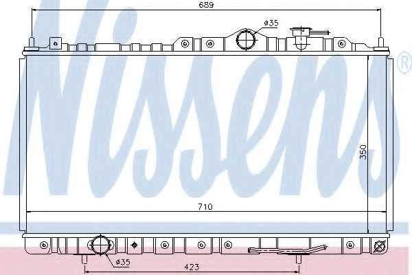 Радиатор охлаждения двигателя NISSENS 68180 - изображение