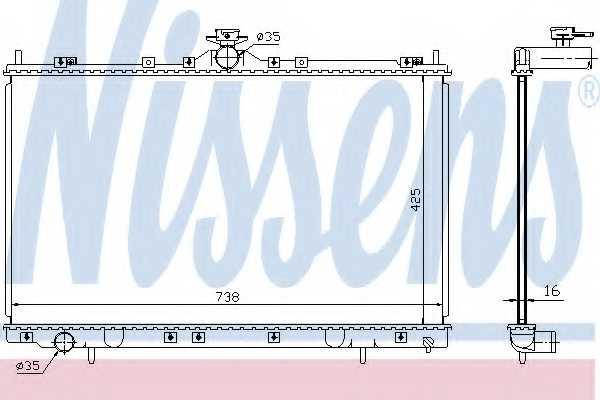 Радиатор охлаждения двигателя NISSENS 68182 - изображение
