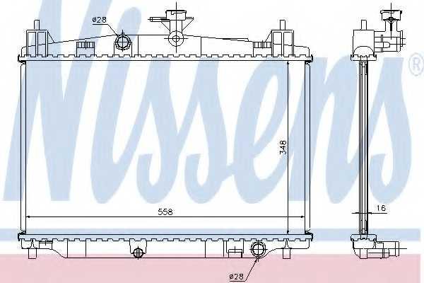 Радиатор охлаждения двигателя NISSENS 68504 - изображение