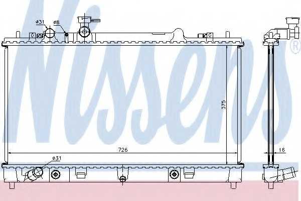 Радиатор охлаждения двигателя NISSENS 68508 - изображение