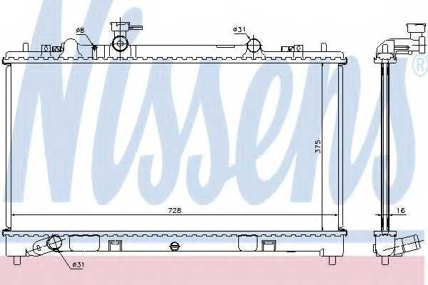 Радиатор охлаждения двигателя NISSENS 68509 - изображение