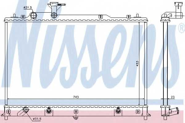 Радиатор охлаждения двигателя NISSENS 68524 - изображение