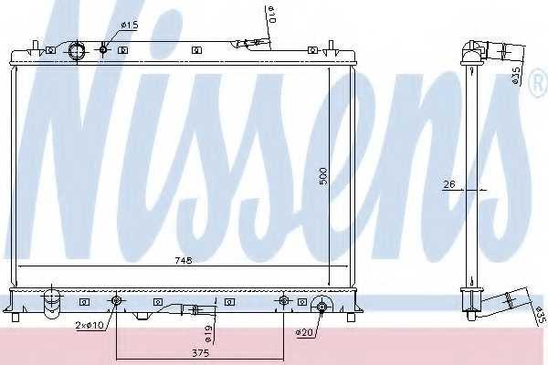 Радиатор охлаждения двигателя NISSENS 68525 - изображение