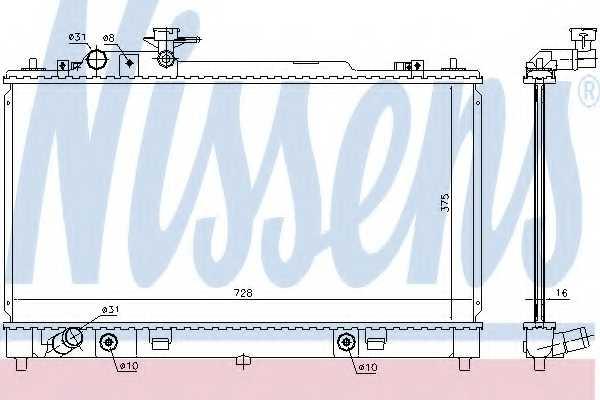 Радиатор охлаждения двигателя NISSENS 68550 - изображение