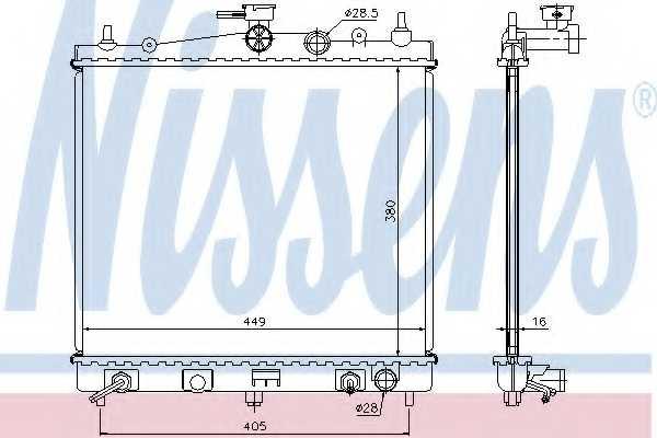 Радиатор охлаждения двигателя NISSENS 68700A - изображение