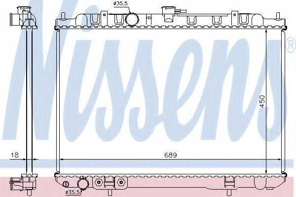 Радиатор охлаждения двигателя NISSENS 68704 - изображение