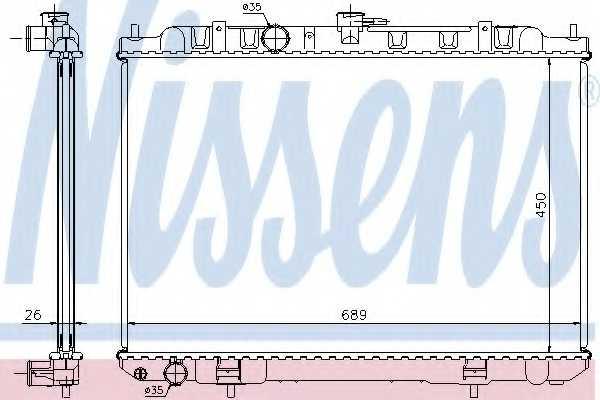 Радиатор охлаждения двигателя NISSENS 68705A - изображение