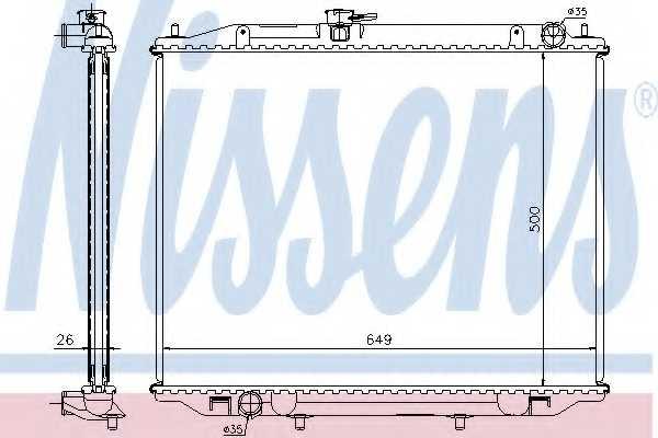 Радиатор охлаждения двигателя NISSENS 68708A - изображение