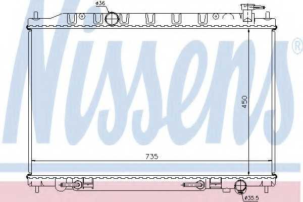 Радиатор охлаждения двигателя NISSENS 68712 - изображение