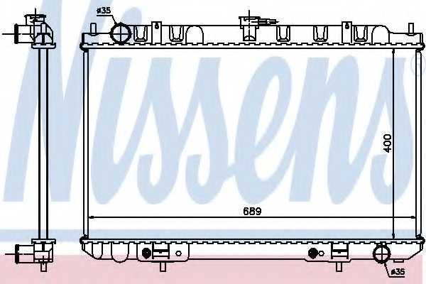 Радиатор охлаждения двигателя NISSENS 68713 - изображение
