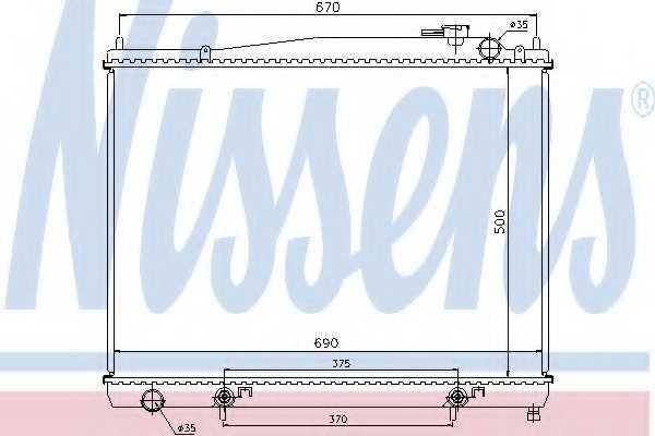 Радиатор охлаждения двигателя NISSENS 68715 - изображение