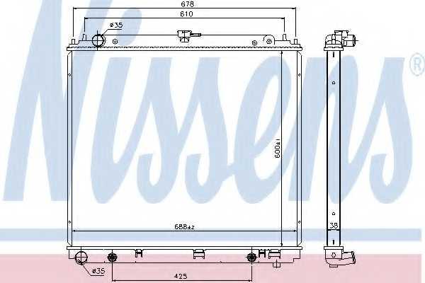 Радиатор охлаждения двигателя NISSENS 68717 - изображение