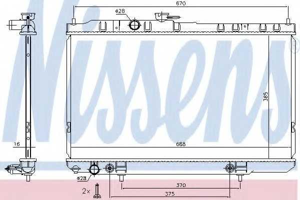 Радиатор охлаждения двигателя NISSENS 68736 - изображение