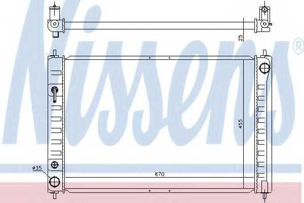 Радиатор охлаждения двигателя NISSENS 68743 - изображение