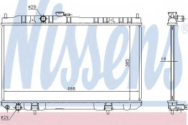 Радиатор охлаждения двигателя NISSENS 68751 - изображение