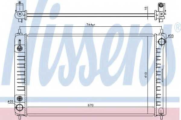 Радиатор охлаждения двигателя NISSENS 68762 - изображение
