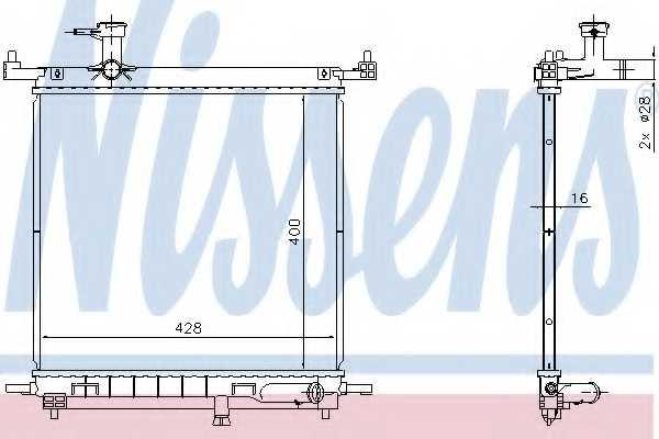 Радиатор охлаждения двигателя NISSENS 68770 - изображение