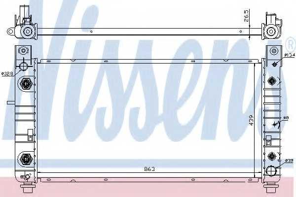 Радиатор охлаждения двигателя NISSENS 69091 - изображение