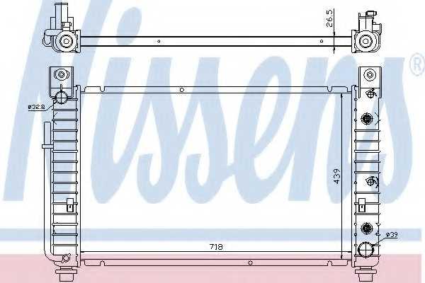 Радиатор охлаждения двигателя NISSENS 69092 - изображение