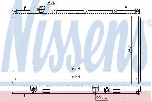 Радиатор охлаждения двигателя NISSENS 69209 - изображение