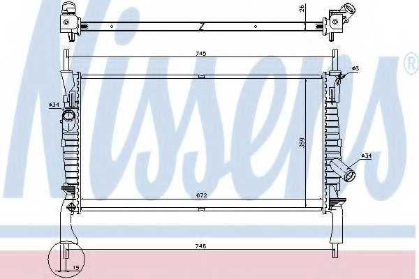 Радиатор охлаждения двигателя NISSENS 69225 - изображение