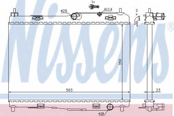 Радиатор охлаждения двигателя NISSENS 69235 - изображение