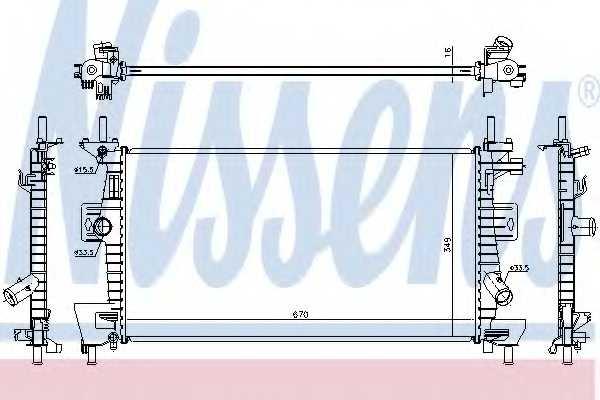 Радиатор охлаждения двигателя NISSENS 69237 - изображение